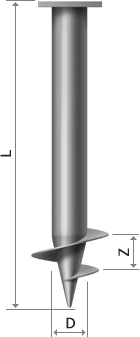 Купить Винтовые сваи 57мм с лопасть 120мм длина 3м