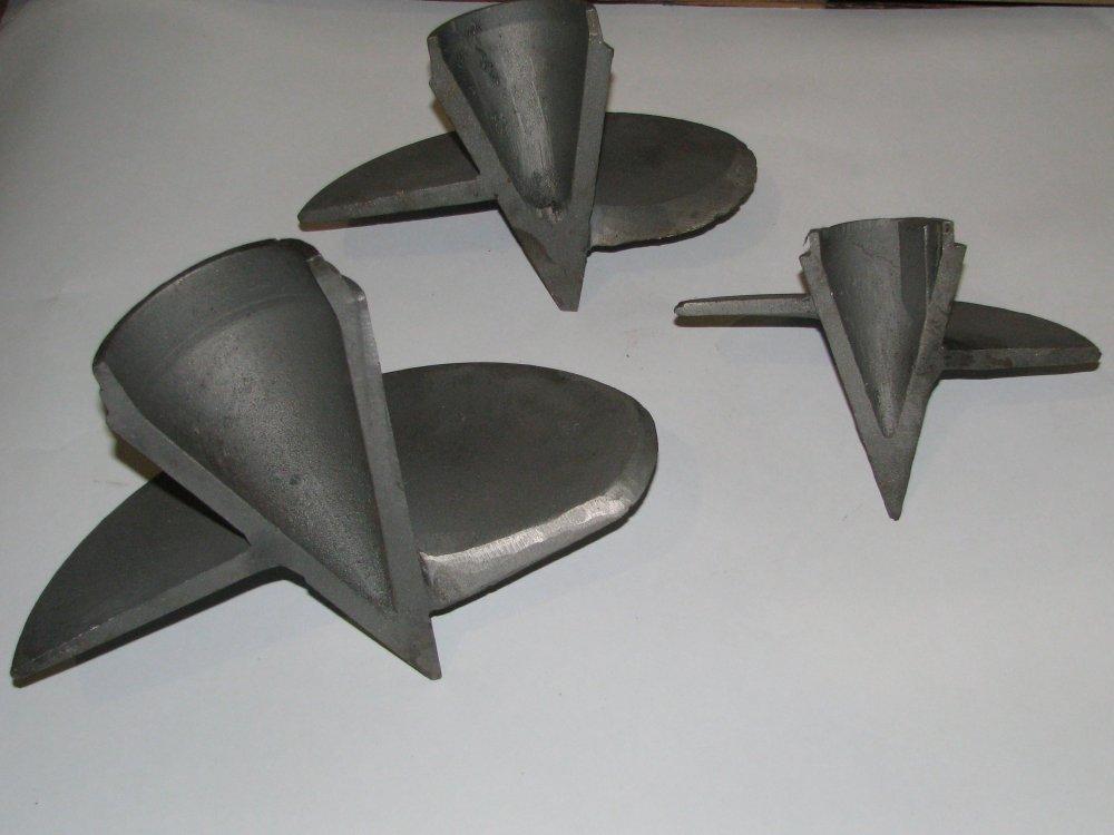 Купить Литой наконечник для винтовых свай 114 х 300