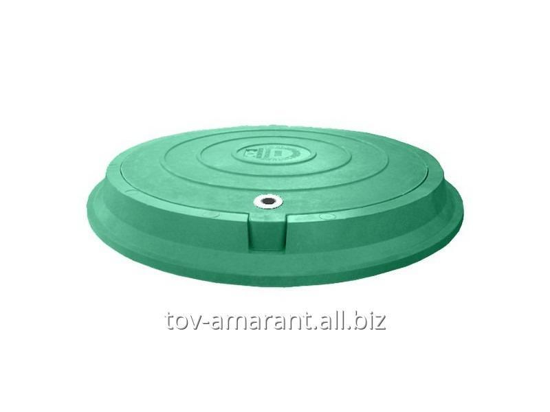 Купить Люк полимерпесчаный легкий 3 т с замком зеленый