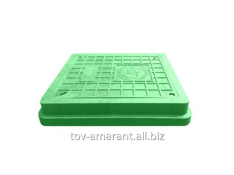 Купить Прямоугольный люк 1,5 т с замком для колодца зеленый класс А15