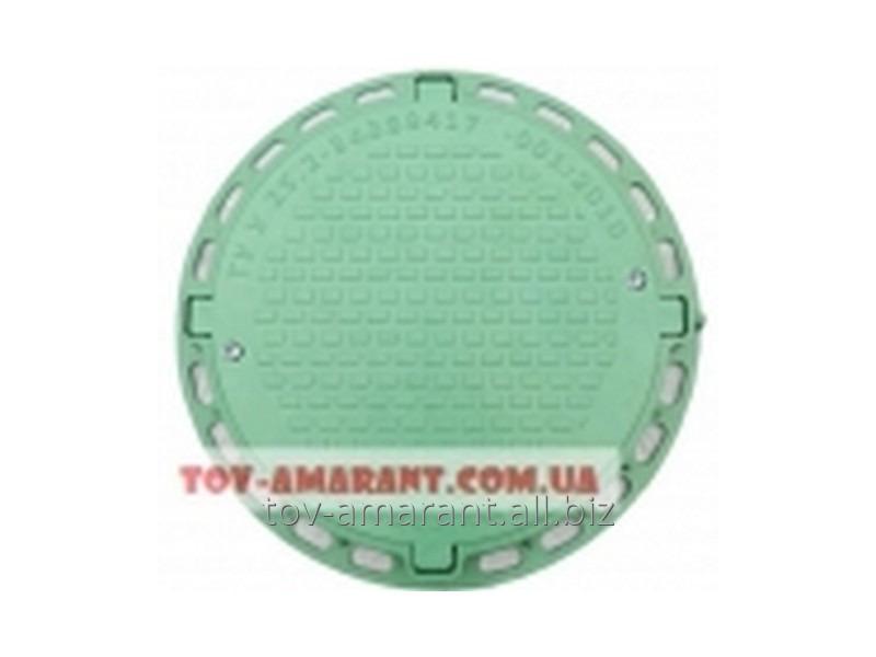 Купить Садовый люк А15 с замком пластиковый зеленый 1 т