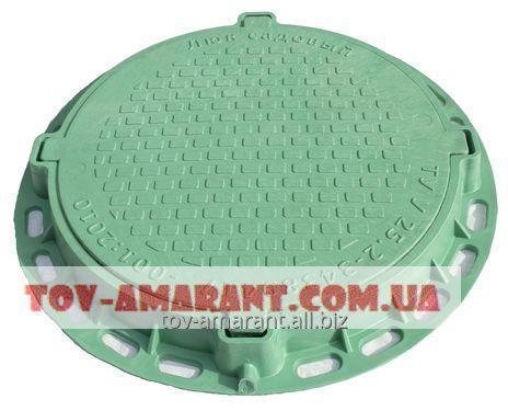 Купить Люк пластиковый зеленый 1 т садовый А15