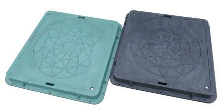 Купить Зеленый люк полимерпесчаный квадратный А15 садовый 1 т