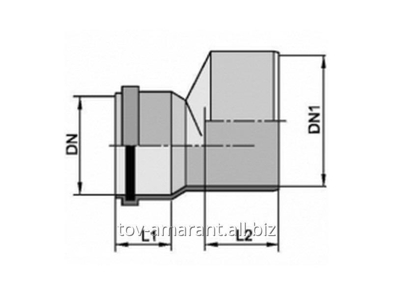 Купить Редукция для труб разных диаметров внутренней канализации
