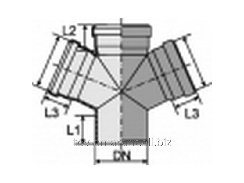 Купить Крестовина одноплоскостная 67° для внутренней канализации