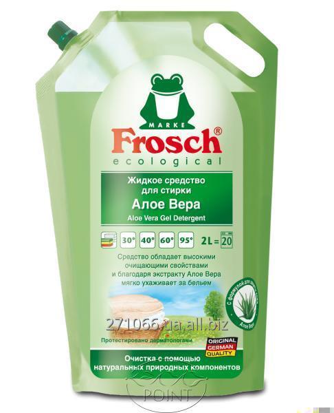 Купить Гель средство для стирки Frosch (Фрош) Алоэ Вера, 2л (4001499122354)