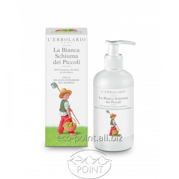 Купить Детская пенка-шампунь для ванны с календулой, яблоком и мальвой, L'ERBOLARIO, 250 мл (2050100008602)