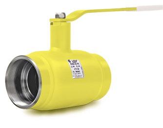 Купить Краны шаровые LD - стальные муфтовые (Челябинск, Россия) DN (Ду) 15-500, Pn 16-40 для природного газа, нефтепродуктов, неабразивных жидкостей и газов