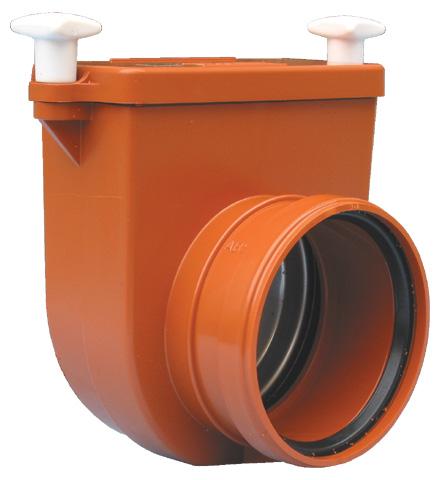 Механический канализационный затрво для колодцев из ABS, с заслонкой из нержавеющей стали HL710.0