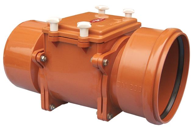 Купить Механический магистральный канализационный затвор из ABS, DN200мм, HL720