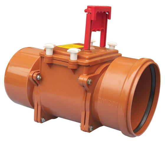 Механический магистральный канализационный затвор из ABS, DN200мм, HL720.1