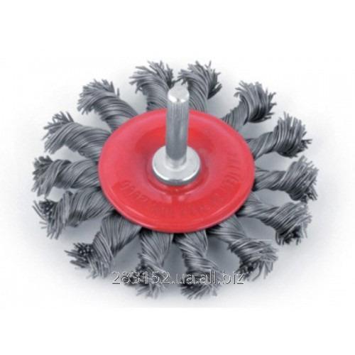 ІВ Щітка для металу 125мм Бригадир (22-032) плетений дріт М14*2 5722