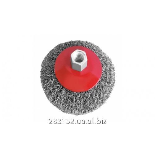 ІВ Щітка для металу 125мм INTERTOOL (BT-5125) гофрований дріт 7100