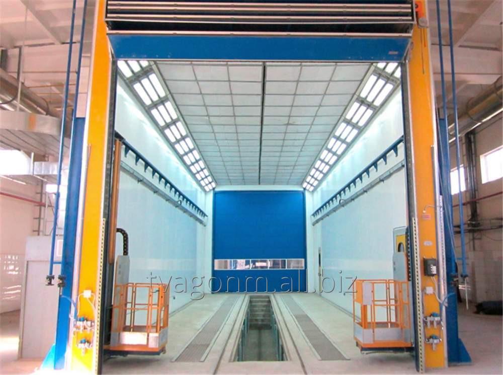 Купить Промышленные окрасочно-сушильные камеры для окраски и сушки сварных металлоконструкций