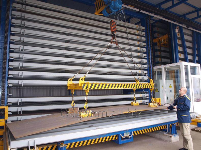 Купить Автоматизированные склады листового металлопроката для складирования листового проката в специальных кассетах с помещением в ячейки склада
