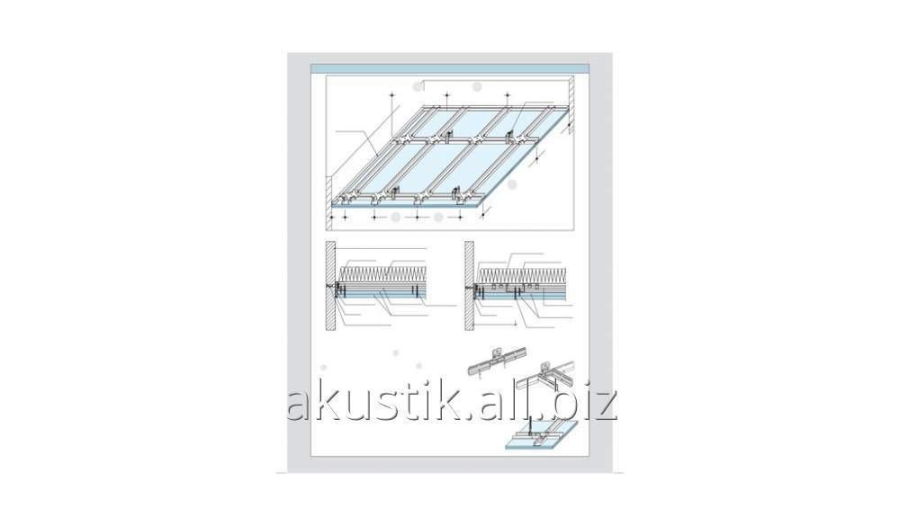 Buy Звукоизоляционный подвесной потолок D113