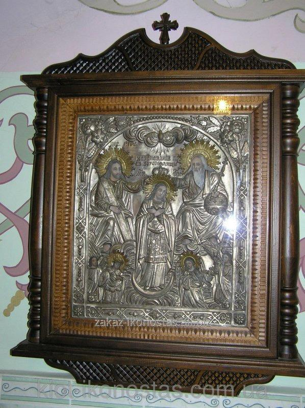 Icon Cases Under All Types Of Icons Varnished With A Carved Frame