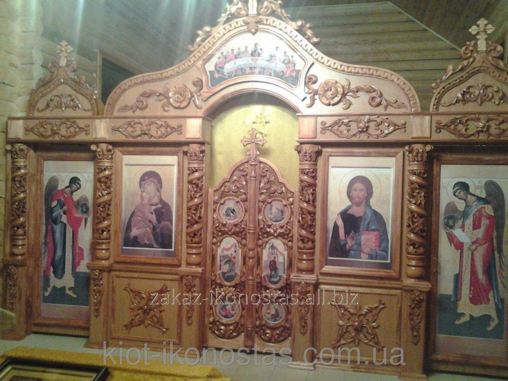 Купить Иконостасы с резными полу колоннами
