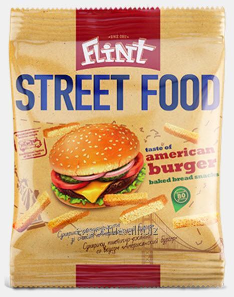Acheter Croûtons de blé-seigle TM Flint Street Food, hamburger américain 80 g