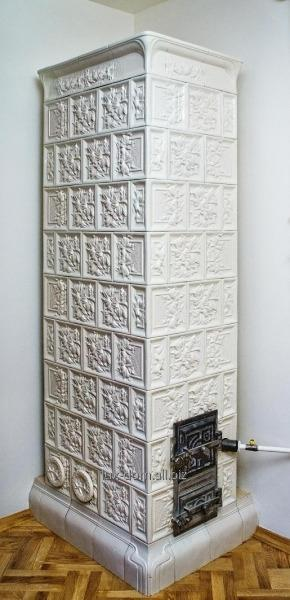 Печь изразцовая из кафеля - Белая Лилия.