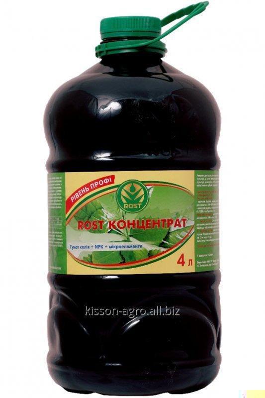 ROST®-КОНЦЕНТРАТ 5:5:5. 4л. ПЭТ бутылка. Органоминеральное удобрение на основе гумата калия, обогащенное NPK