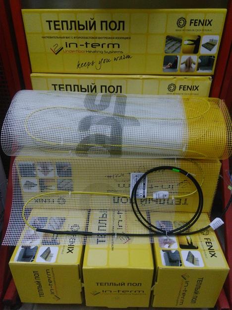 Тепла підлога - мат In-Term FENIX на 4.4 м.кв. двожильный теплый пол 2