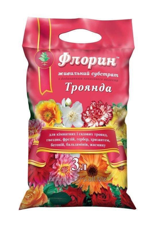 """Peat Substrat Rose """"TM Florin"""". Verpackung - 3 Liter. Für alle Arten von Indoor-und andere blühende Pflanzen."""