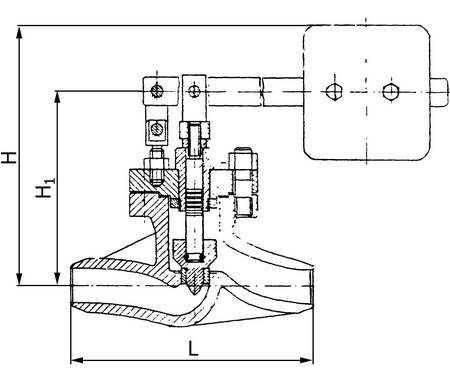Клапан Т-20б  Ду50 Ру64