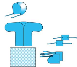 Купить Комплект одежды медицинский № 2 (для новорожденного) и другая медицинские принадлежности и одежда с Луганска