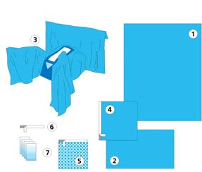 Купить Комплект для гинекологических операций № 2, покрытия операционные и другие наборы для операций (спец.одежда медицинская), Луганск