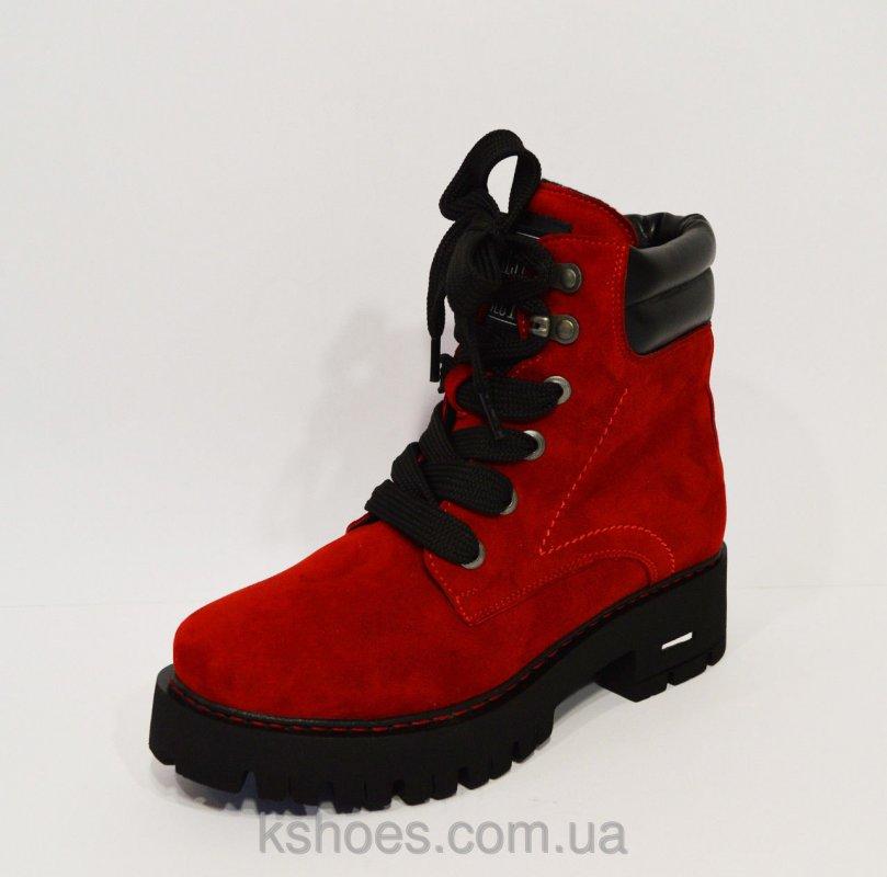 Купить Женские красные зимние ботинки Selesta 2377