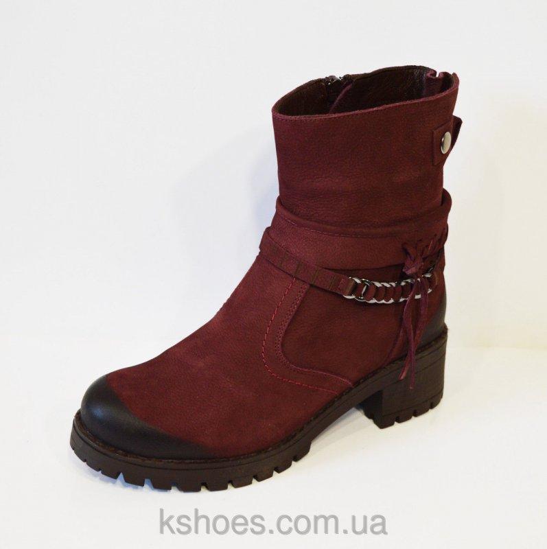 Купить Бордовые женские ботинки Alpino 4055