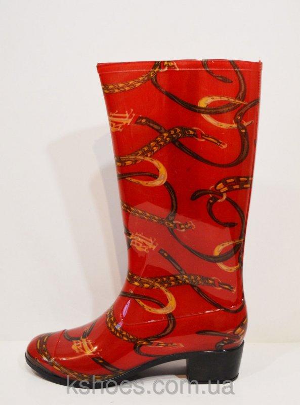 Купить Женские резиновые красные сапоги