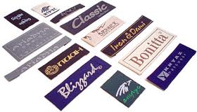 Изготовление этикеток из ткани, ярлыков, бирок для одежды (Киев); Цена (цены) лучшая в Киеве