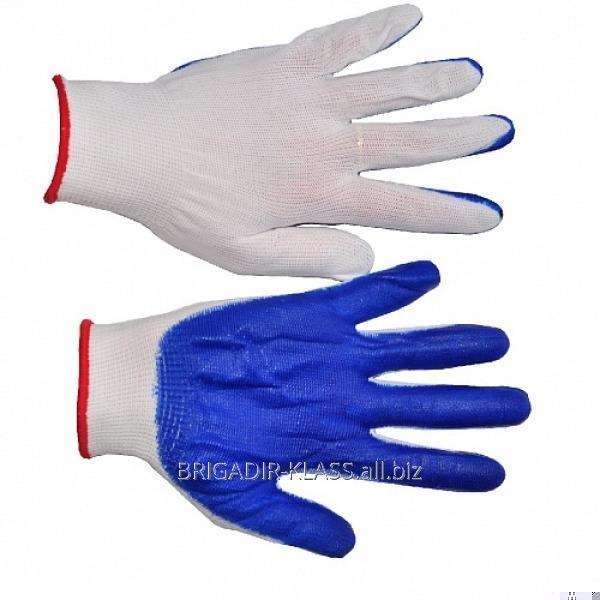 Перчатки вампир. синие. уп. 12 пар. ,Модель  P-07-2