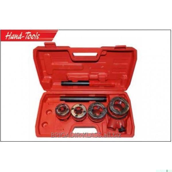 Набор плашек для метал.труб 4 шт.(1/2,3/4,1,1,25) ,Модель  26-1-053
