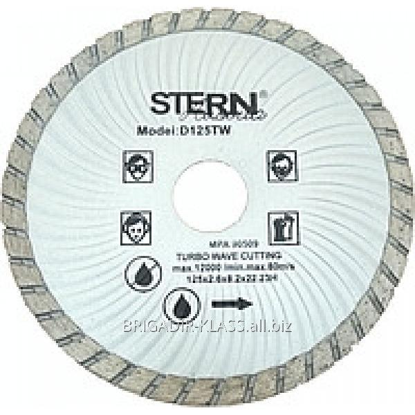 Круг алмазный отрезной Stern 125 турбо волна ,Модель  КАШ-01-02