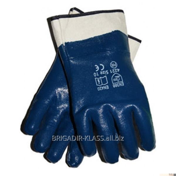 Нитрил, синий мягкий манжет уп. 12 пар. ,Модель  P-03-0