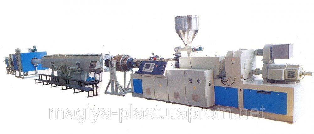 Купить Экструзионная линия LPG-65/33 по производству труб из ПП, ПЭ100 (12-50) c PLC управлением