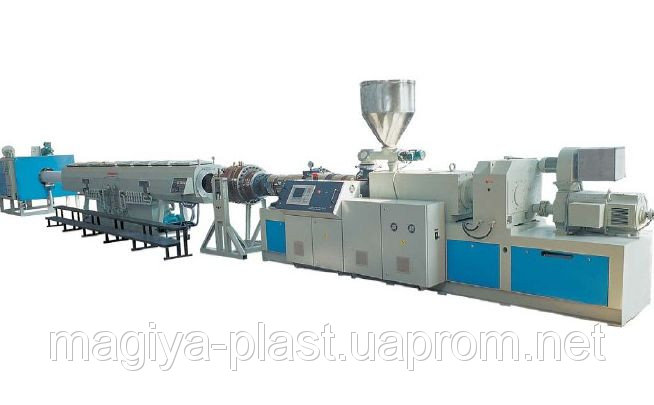 Купить Экструзионная линия LPG-65/45 по производству труб из ПЭ100, ПП