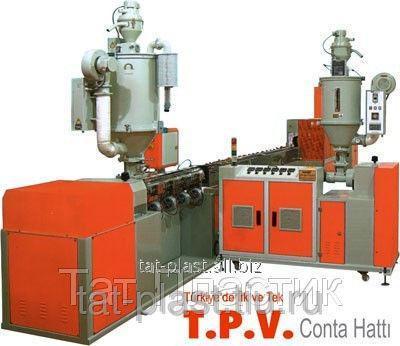 Купить Экструзионная линия для производства уплотнителя TPV, TPE