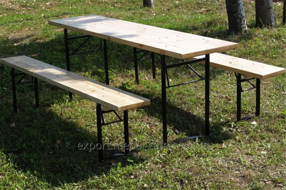 Комплект мебели ДЕСАНТ (стол, скамья)