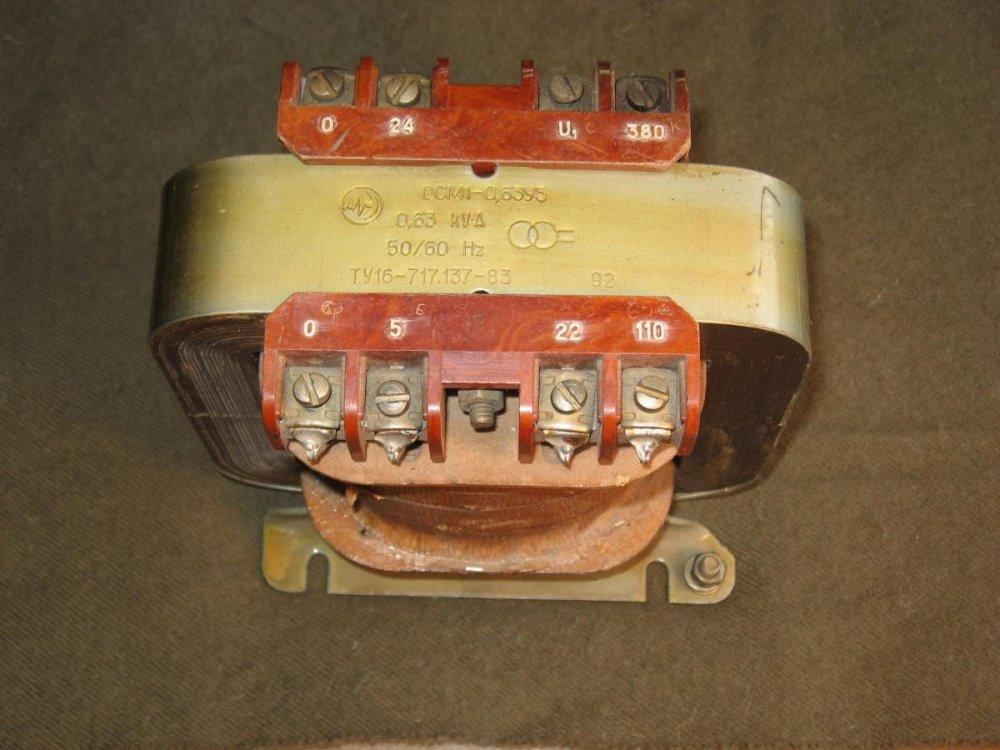 Трансформатор ОСМ-1-0,63 380/42