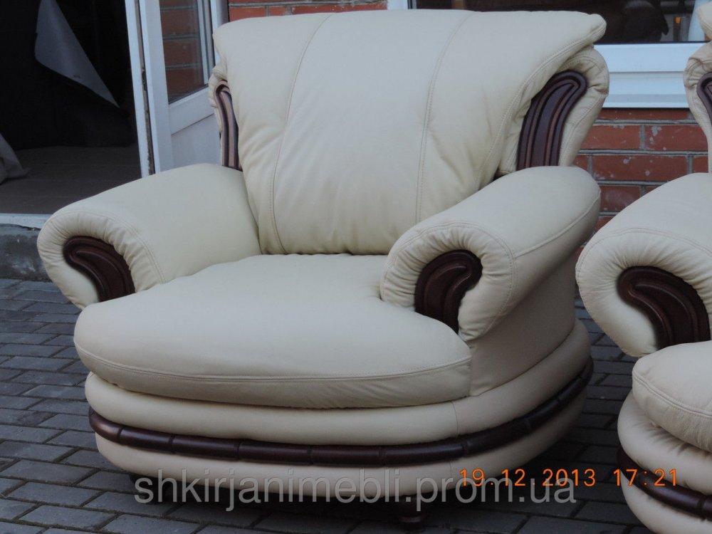 Купить Кожаный диван + 2 кресла