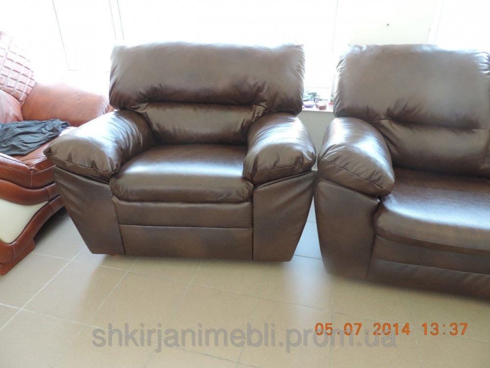 Купить Кожаный гарнитур 3+1+1,кожаная мебель