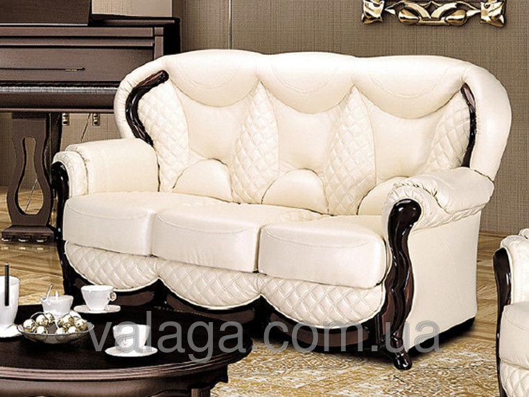 Купить Кожаный комплект , кожаный диван + 2 кресла