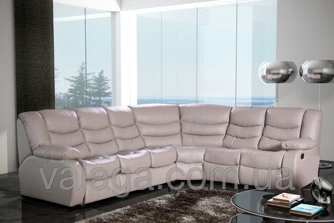 Купить Кожаный угловой диван regan белый