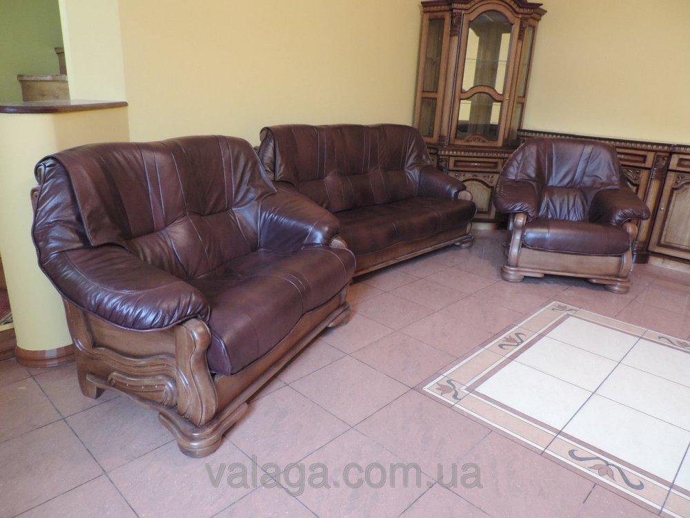 Купить Кожаный диван и кресла Parys
