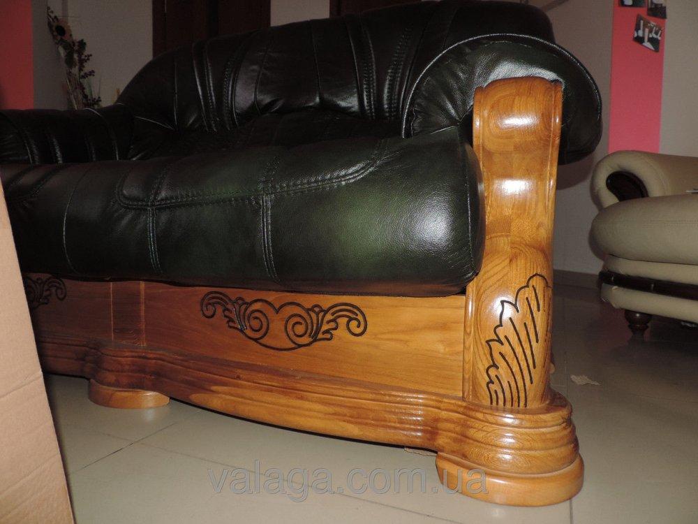 Купить Кожаный диван и кресла Roma
