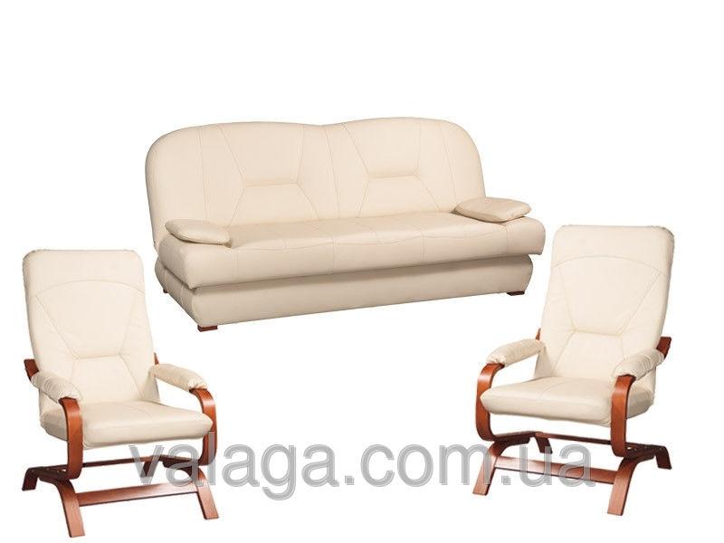 Купить Кожаный набор мебели с креслами-качалками Finka